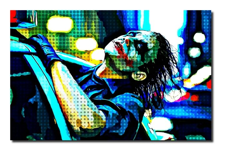 The Joker Canvas Art! - David Gilkes