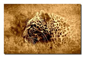 Camouflaged Leopard Canvas Art!