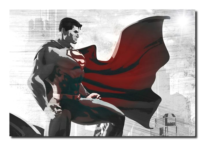 Superman Inspired Canvas Art! - David Gilkes