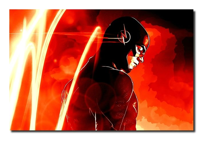 The Flash Canvas Art Picture! - David Gilkes