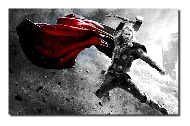 Thor Canvas Art, size A1 NEW! - David Gilkes