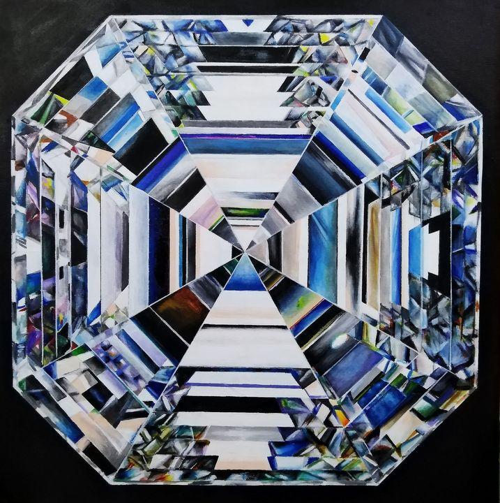 Asscher Cut Diamond Painting - sham