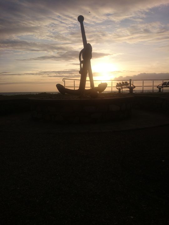 anchoring down for the night - corish art