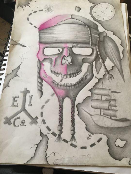 Skull map arrrr - corish art