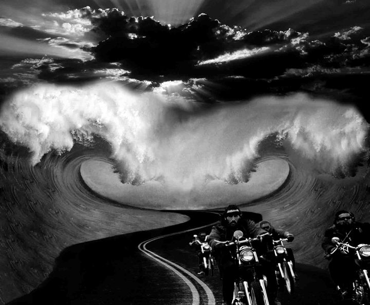 """""""Ride Your Way"""" (black/white) - Mat Griffith Designs"""