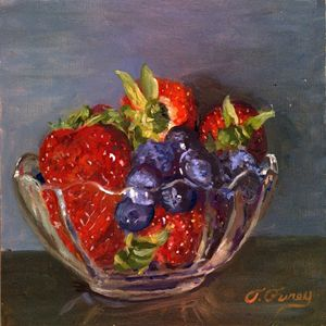 Strawberrys with Blueberrys