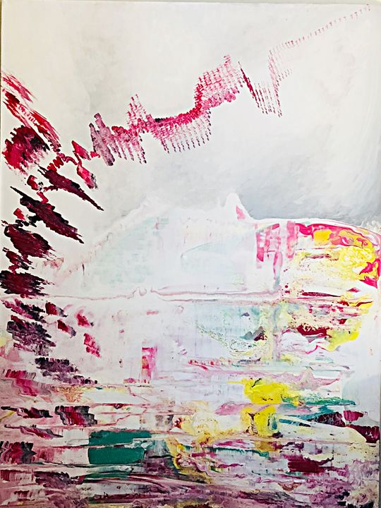 Abstract acrylic painting - The artist loft10