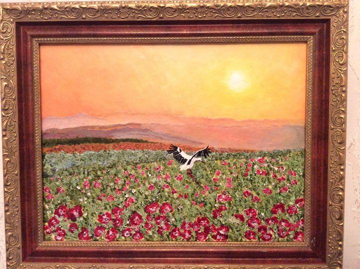 Morning . Poppy field . - Ruslana