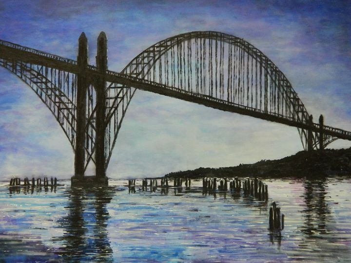 Newport Bridge - Derek Johnson Art Gallery