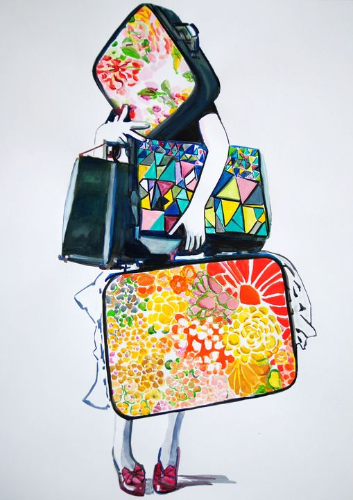 Traveler / 70 x 50 cm - Alexandra Djokic