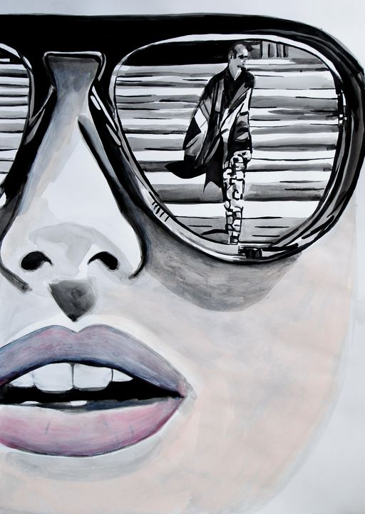 Girl with sunglasses / 70 x 50 cm - Alexandra Djokic