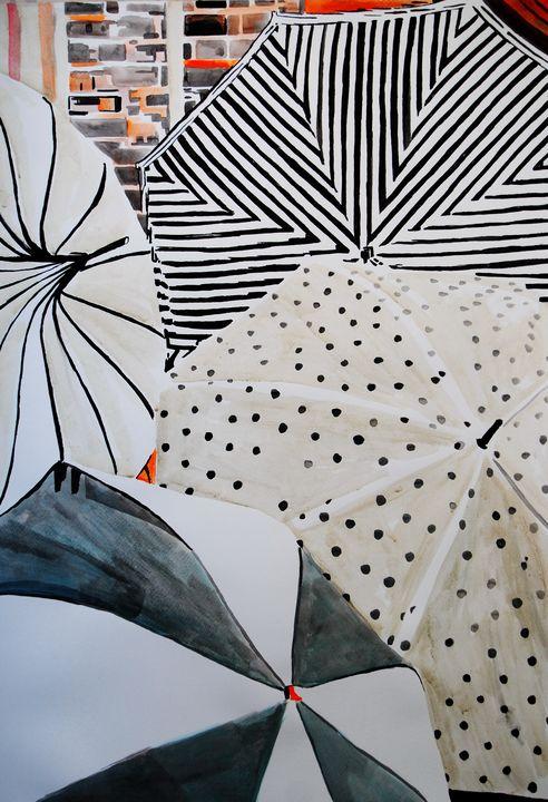 Umrellas / 72 x 50 cm (2019) - Alexandra Djokic