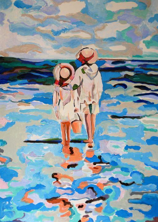 At the beach #3 / 70 x 50 cm - Alexandra Djokic