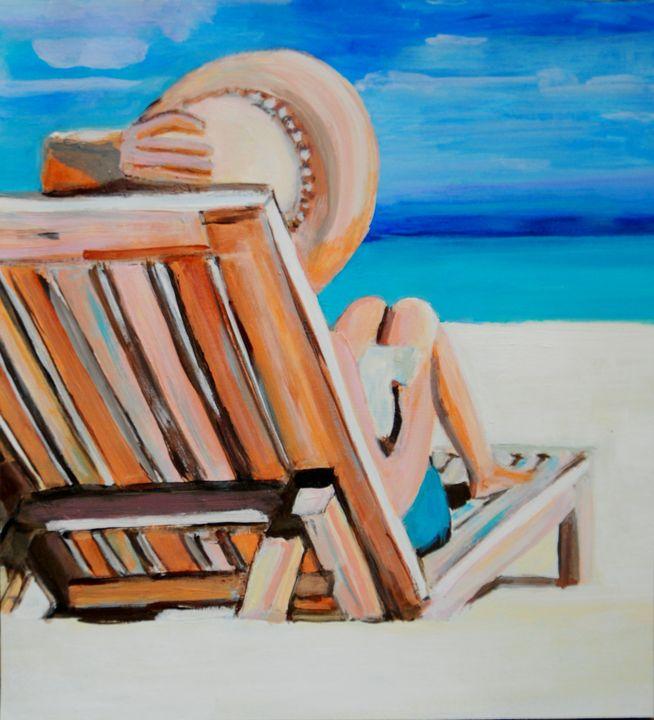 At the beach AP / 49.5 x 45 cm - Alexandra Djokic