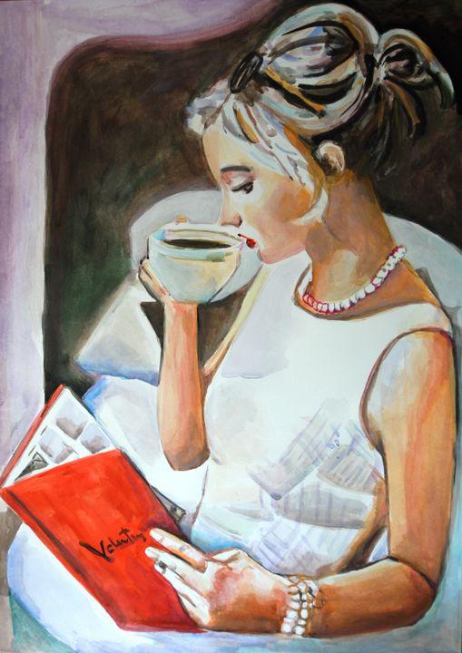Girl with a book / 70 x 49.5 cm (201 - Alexandra Djokic