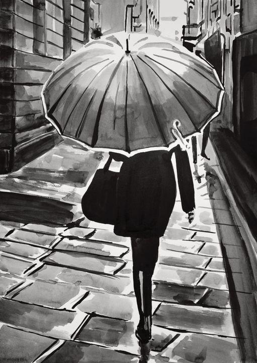 Rainy day / 42 x 29.7 cm - Alexandra Djokic