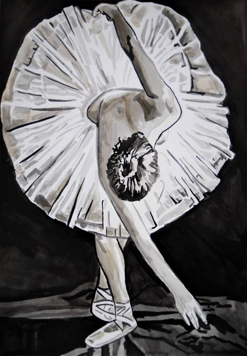 Ballerina #2/ 42 x 29.7 cm (2019) - Alexandra Djokic