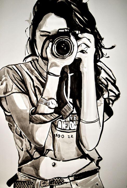 Girl with camera / 72 x 49 cm (2019) - Alexandra Djokic
