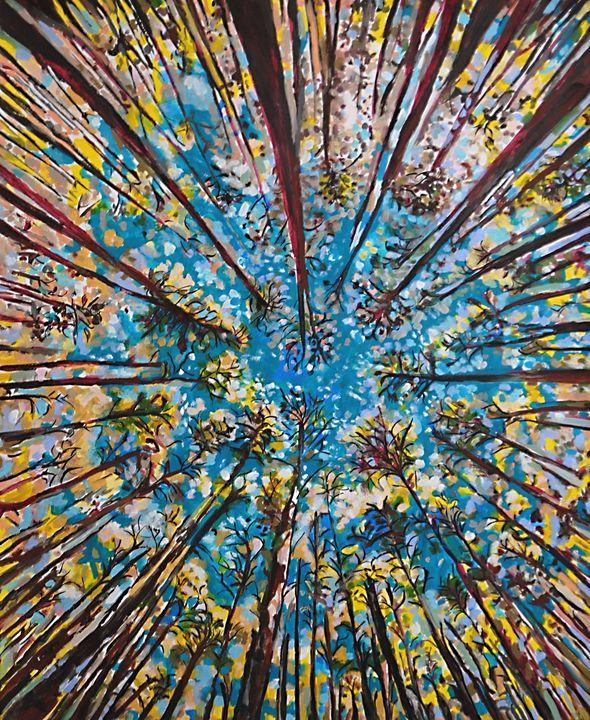 Forest / 87.5 X 72 cm - Alexandra Djokic