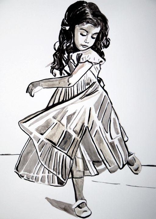 Little ballerina / 49.8 x 35.8 cm - Alexandra Djokic