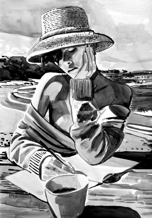 At the beach # 2 / 42 x 29.7 cm - Alexandra Djokic