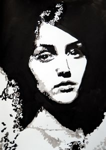 Female portrait / 42 X 29.7 cm