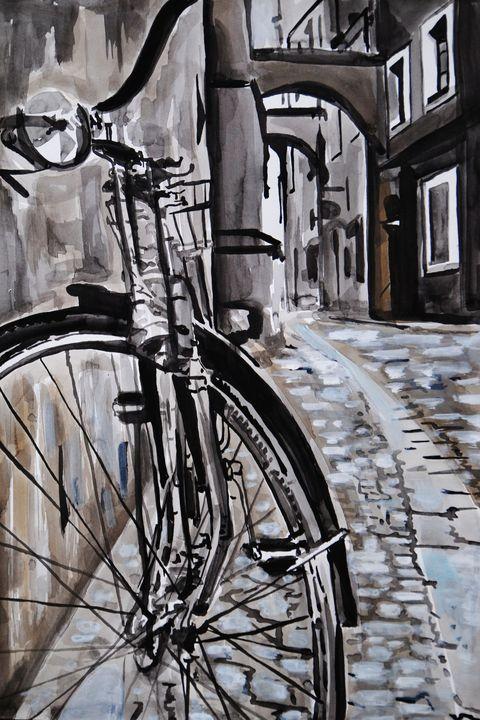 Down the street / 50 x 34 cm - Alexandra Djokic
