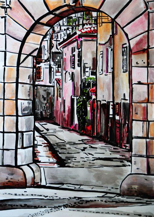 Behind the gates / 50 X 36 cm - Alexandra Djokic