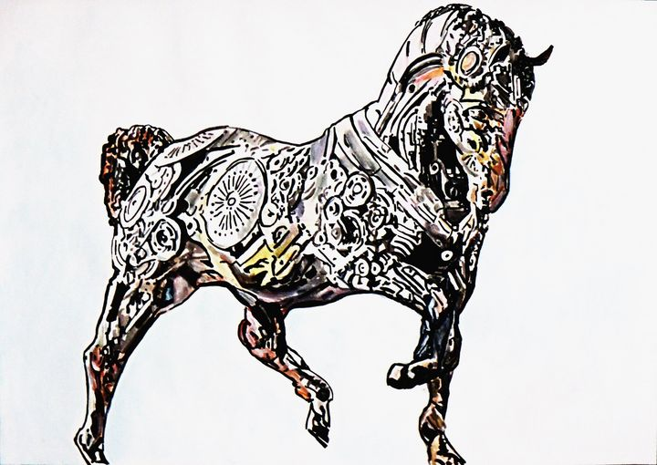 Horse / 72 X 51 cm - Alexandra Djokic