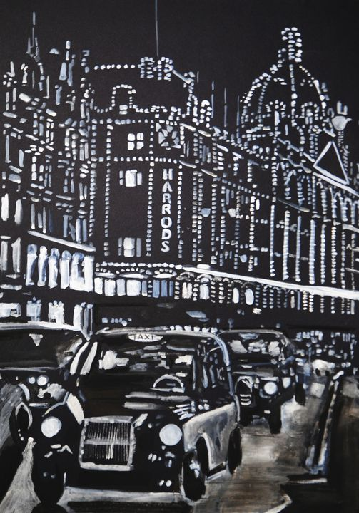 City Night / 49.8 x 35 cm - Alexandra Djokic