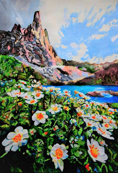 Mountain flowers / 72 x 50 cm (2019) - Alexandra Djokic