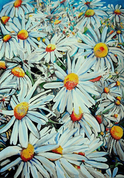 Flowers from Capri / 100 x 70 cm - Alexandra Djokic