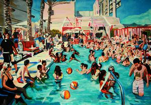 Pool Party / 100 x 70 cm