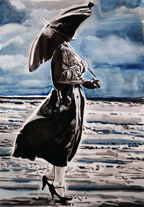 Rainy Day #18 / 50 x 35 cm - Alexandra Djokic