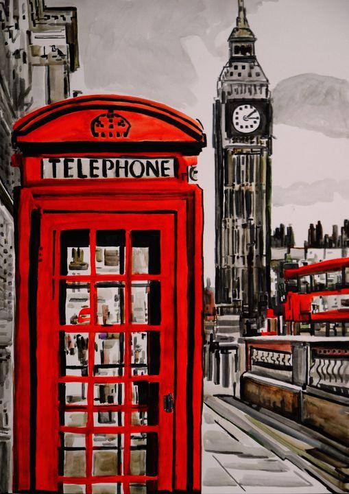 London Street / 70 x 50 cm - Alexandra Djokic