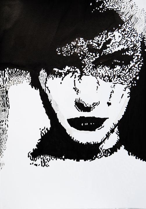 Woman with a mask #4 / 42 X 29.7 cm - Alexandra Djokic