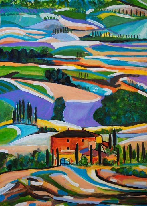 Landscape of Tuscany / 70 X 50 cm - Alexandra Djokic
