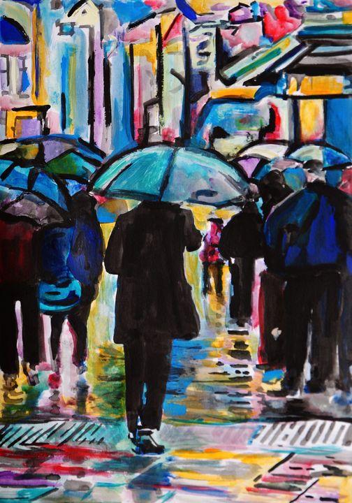 Rainy Town / 42 x 29.7 cm - Alexandra Djokic