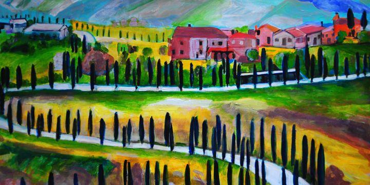 Landscape of Tuscany / 70 X 35 cm - Alexandra Djokic
