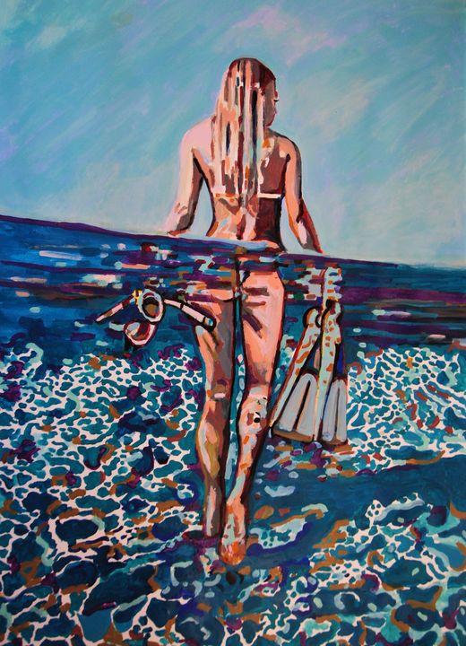 Underwater / 101 X 72 cm - Alexandra Djokic