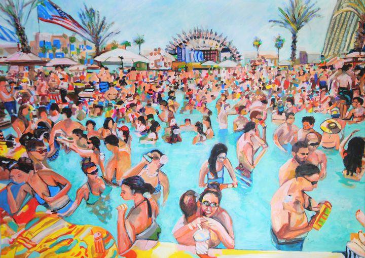 Pool party II / 101 X 72 cm (2019) - Alexandra Djokic