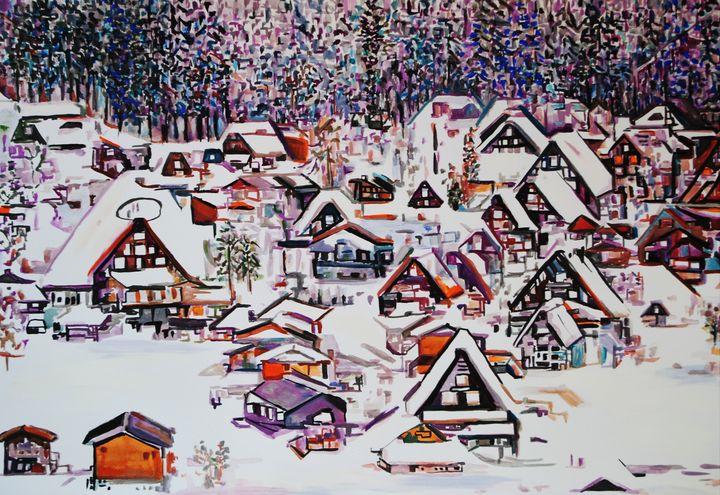 Winter scene / 70 x 50 cm - Alexandra Djokic