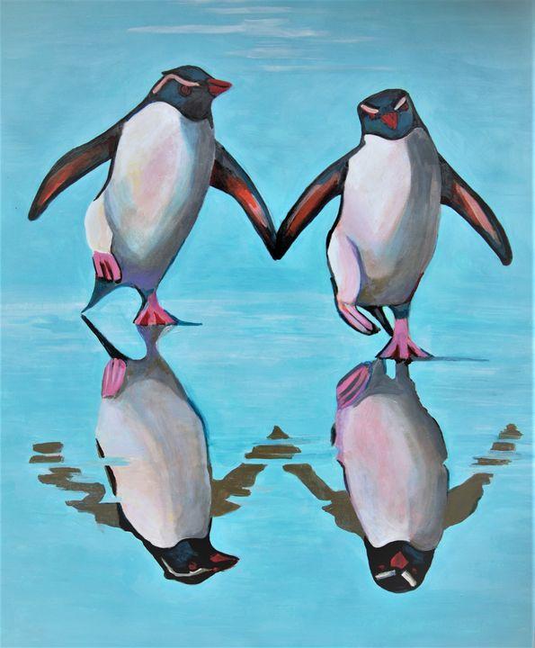 Penguins / 86 X 70 cm - Alexandra Djokic