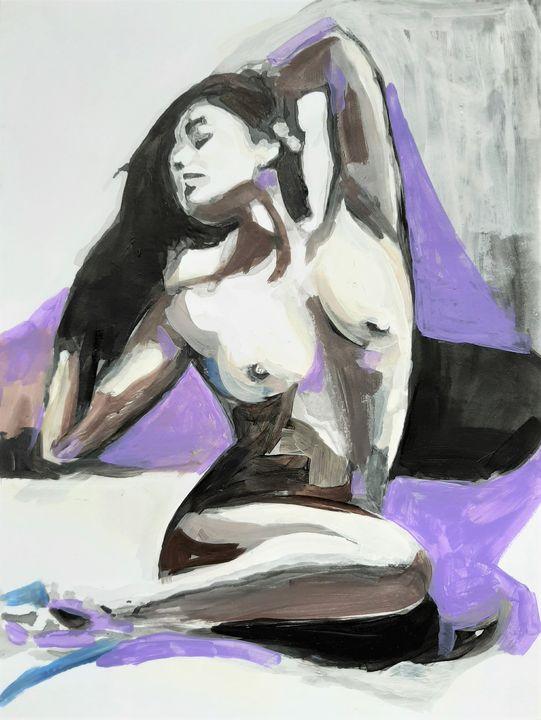 Nude 5 / 35.8 x 26.4 cm - Alexandra Djokic