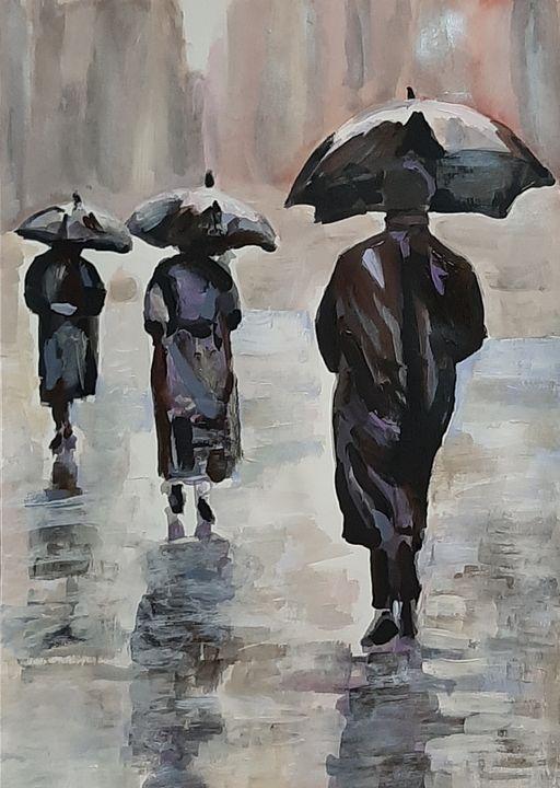 Rainy People / 42 x 29.7 cm - Alexandra Djokic