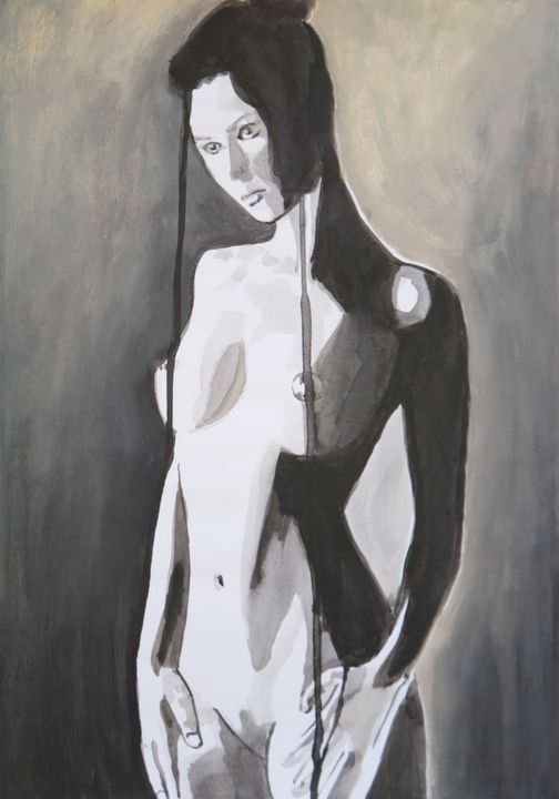 Nude /42 x 29.7 cm (2019) - Alexandra Djokic