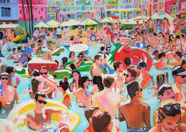 Pool Party III / 101 X 72 (2019) - Alexandra Djokic