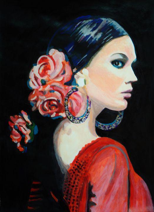 Flamenco dancer / 72 x 51 cm - Alexandra Djokic