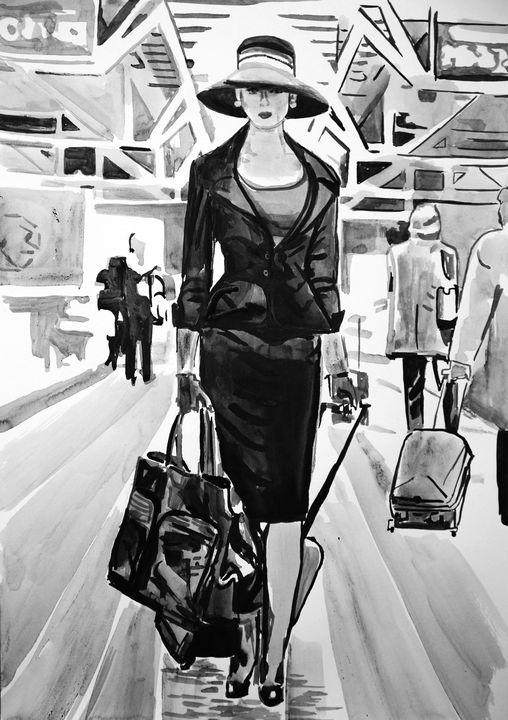 Traveler #7 / 42 x 29.8 cm - Alexandra Djokic
