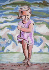 At the beach / 71 x 50 cm